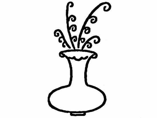 教你如何画花瓶 插花花瓶简笔画步骤图解