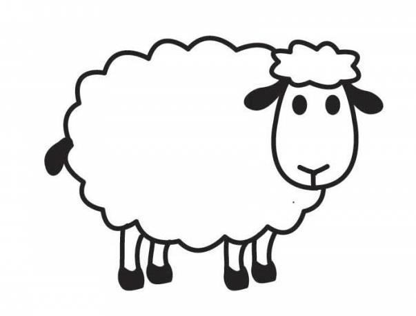 开心的小羊_动物简笔画-e学堂