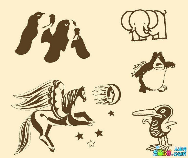 可爱的小动物们_动物简笔画-e学堂