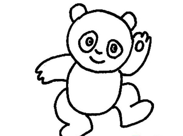 国宝熊猫_动物简笔画-e学堂