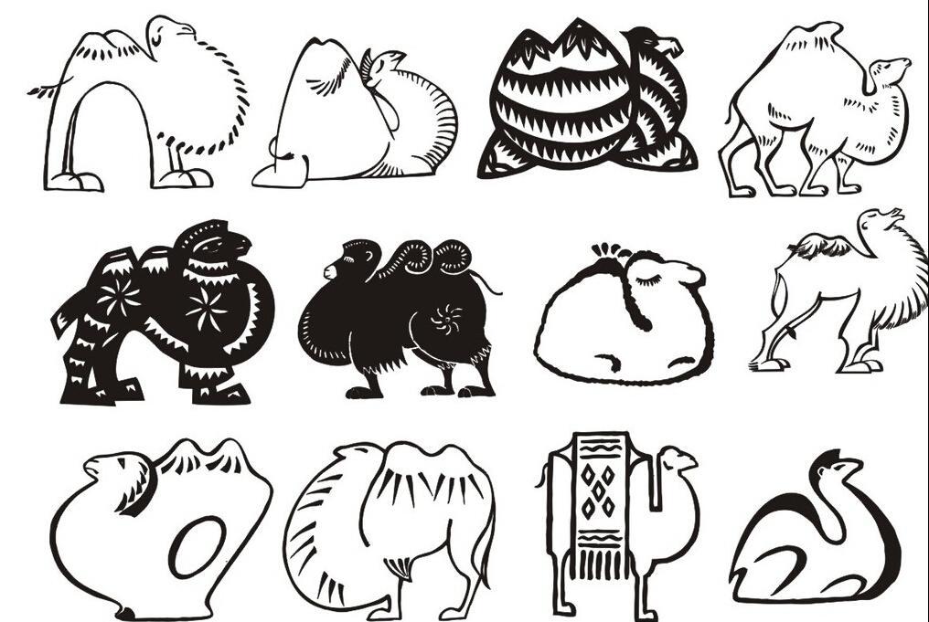 各种各样的骆驼_动物简笔画-e学堂