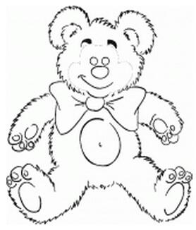 小熊手绘图片简笔画