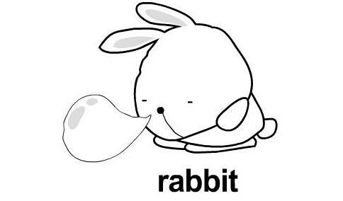 吹气的小兔子_动物简笔画-e学堂