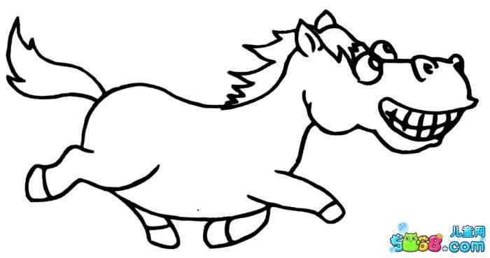 马简笔画儿童可爱图片