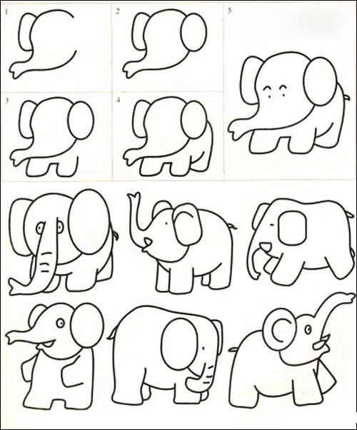大象_动物简笔画-e学堂