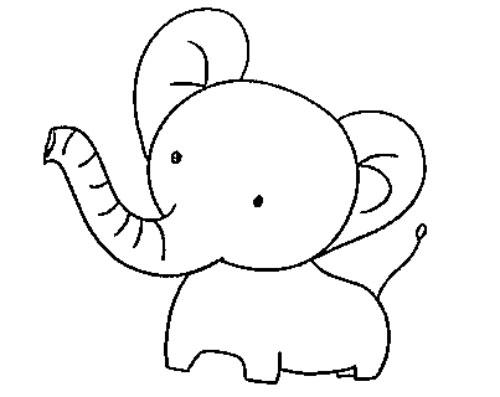 教你如何画小象 可爱的小象