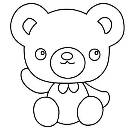 坐着的熊宝宝_动物简笔画-e学堂