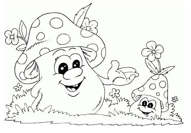 可爱有趣的蘑菇_植物简笔画-e学堂