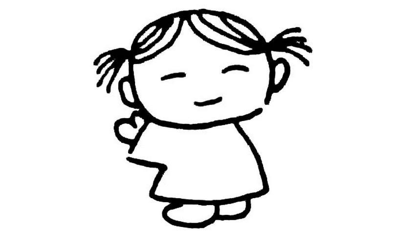 乖乖女_人物简笔画-e学堂