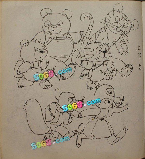幼儿上学情景简笔画