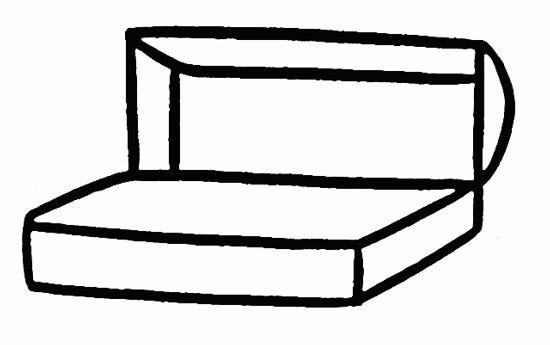 铅笔盒的简笔画步骤