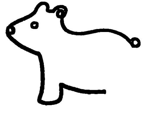 教你如何画小熊 憨厚的小熊