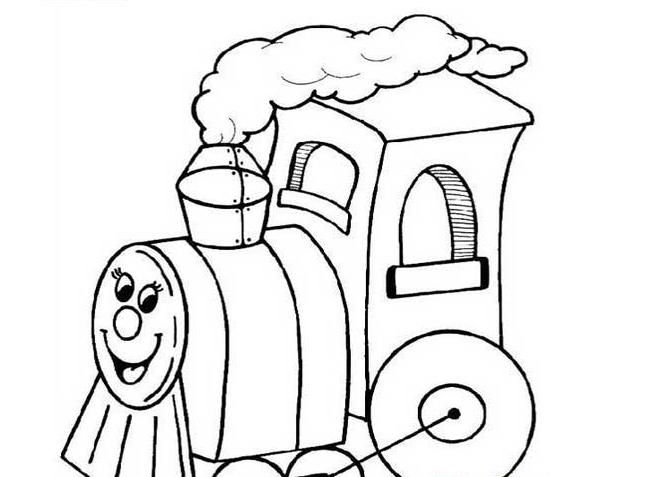 火车简笔画简笔画