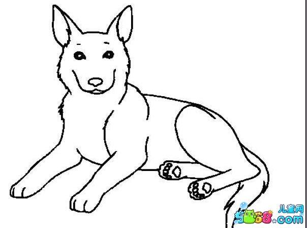可爱的牧羊犬_动物简笔画-e学堂