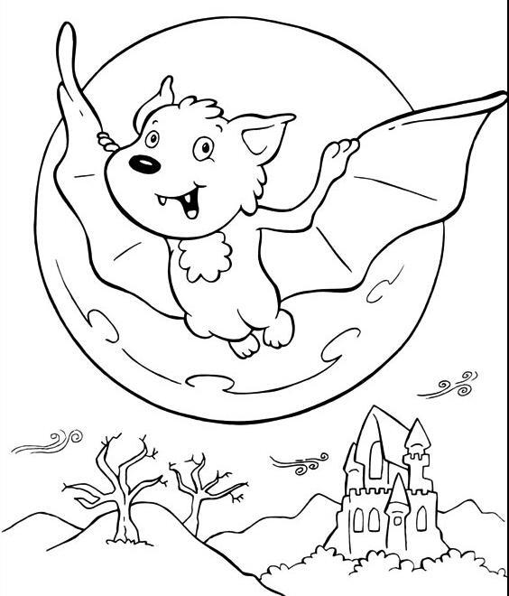 夜晚的小蝙蝠_动物简笔画-e学堂