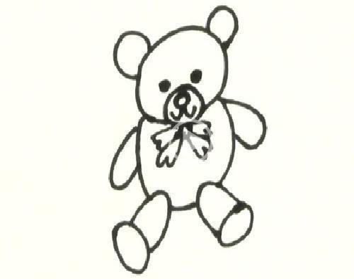 简笔画之玩具熊