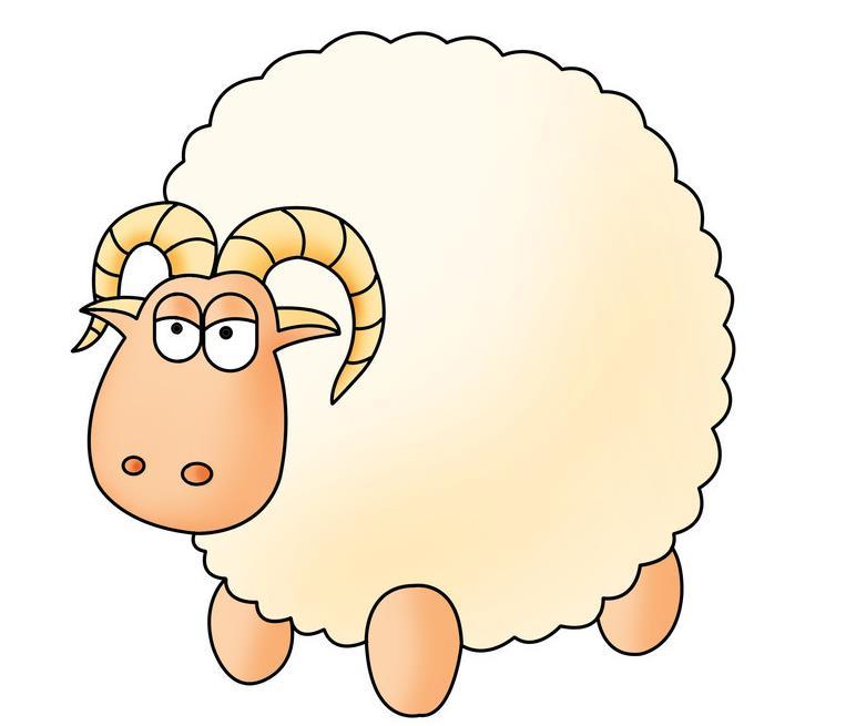 胖嘟嘟的羊羊_动物简笔画-e学堂