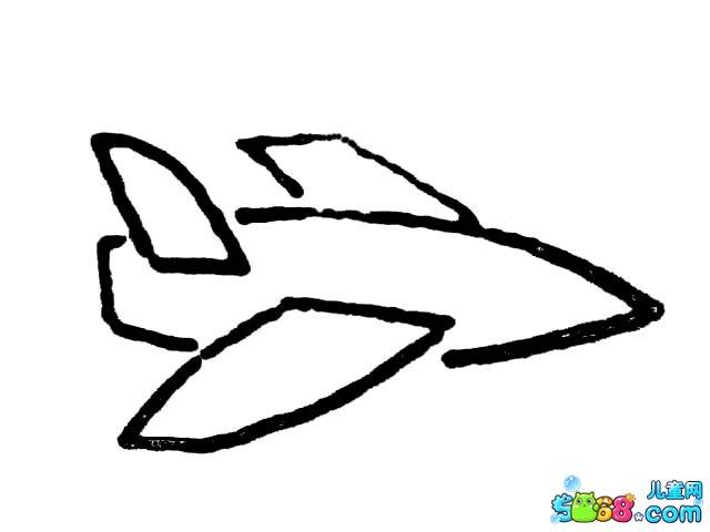 可爱飞机简笔画