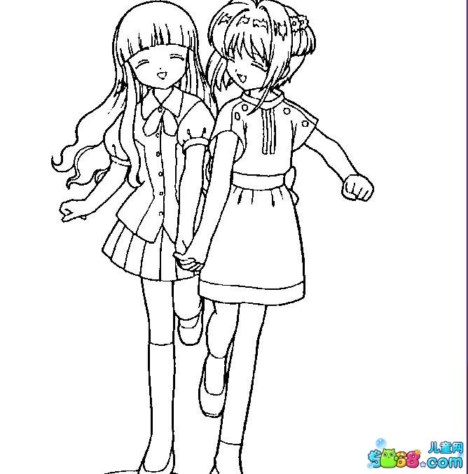 我们是好朋友_动漫简笔画-e学堂