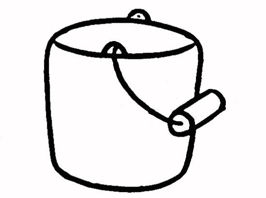 教你如何画水桶 装水的水桶图片