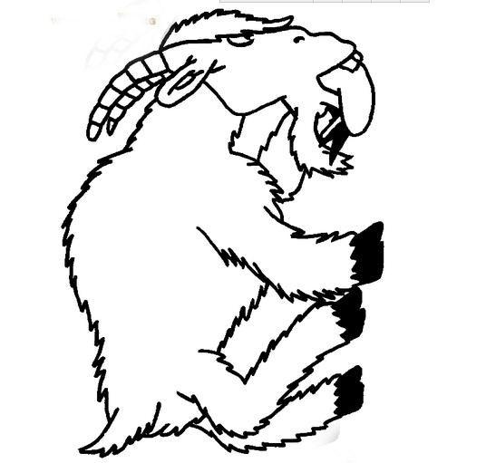 吃东西的山羊_动物简笔画-e学堂