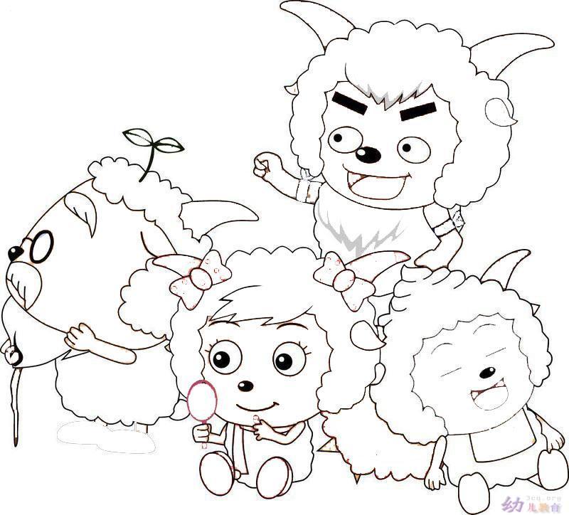 羊羊过新年新_动物简笔画-e学堂