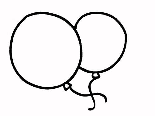 教你如何画气球 飘逸的气球 _简笔画教程-e学堂