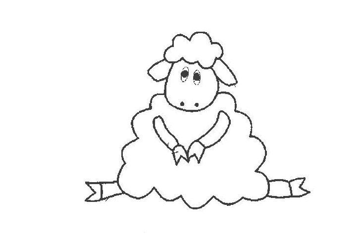 优雅的小羊_动物简笔画-e学堂