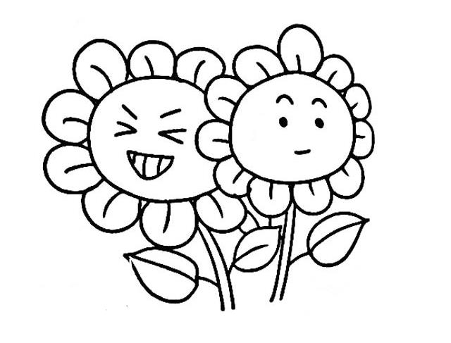 灿烂的太阳花_植物简笔画-e学堂