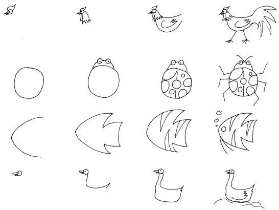 教你画小动物们
