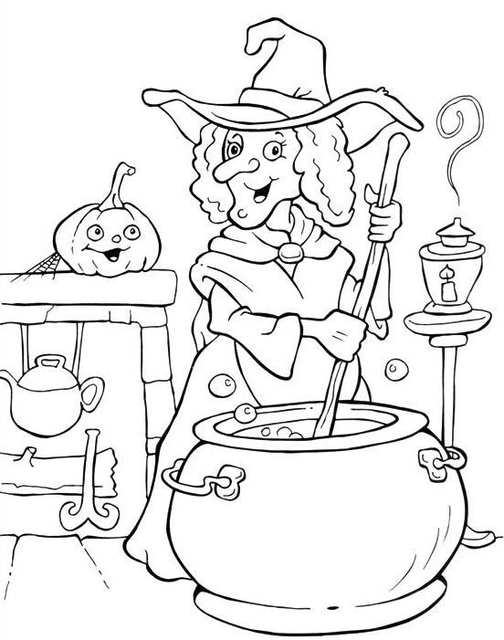 可爱简笔画手绘女巫