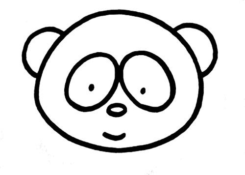 教你如何画熊猫 吃竹子的熊猫_简笔画教程-e学堂图片