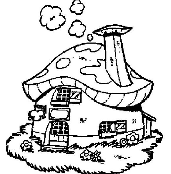 我的家像蘑菇_风景简笔画-e学堂