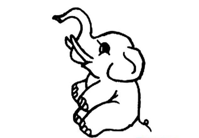 灵活的大象_动物简笔画-e学堂