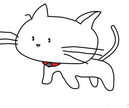 可爱的卡通猫_动漫简笔画-e学堂