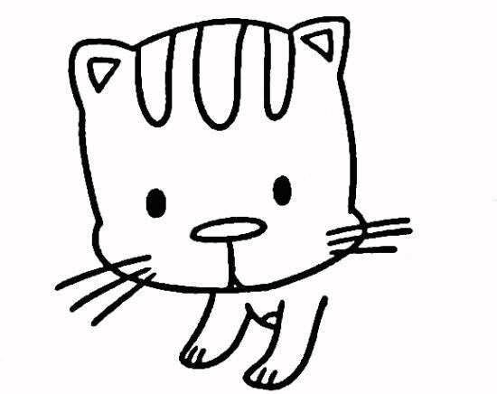 教你如何画小猫 好奇的小猫