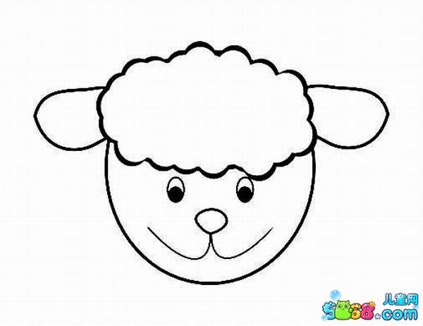 卡通小羊_动物简笔画-e学堂