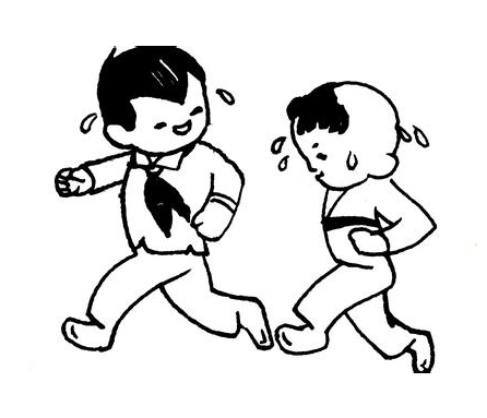 我们爱跑步_人物简笔画-e学堂