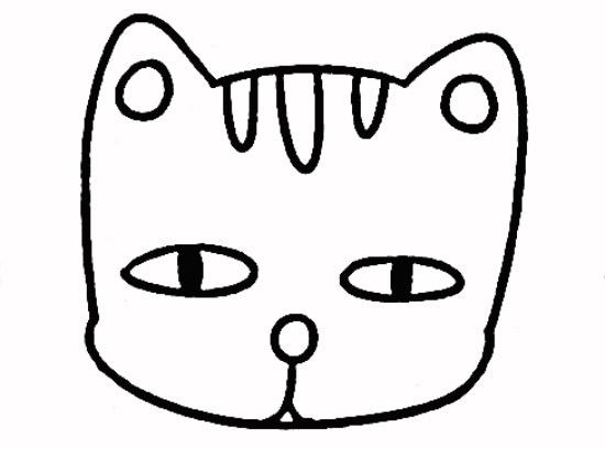 教你如何画小猫 饿肚子的猫咪_简笔画教程-e学堂