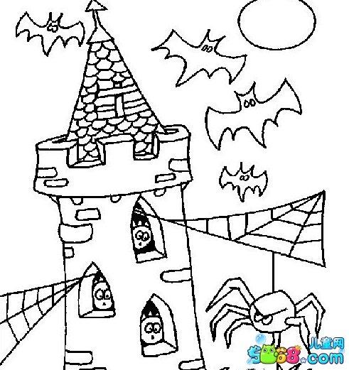简笔画城堡图片步骤