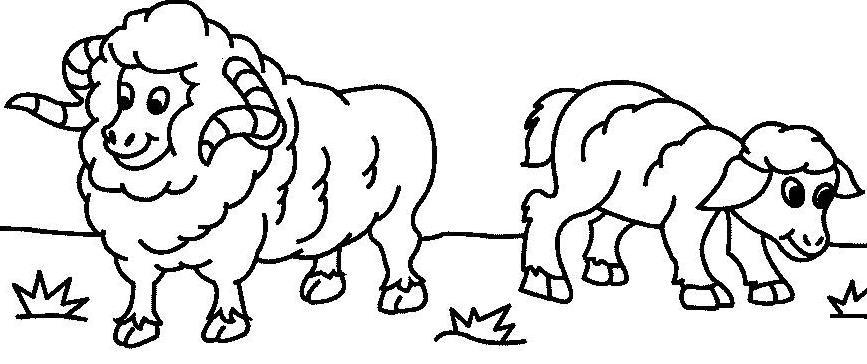 两只吃草的羊_动物简笔画-e学堂