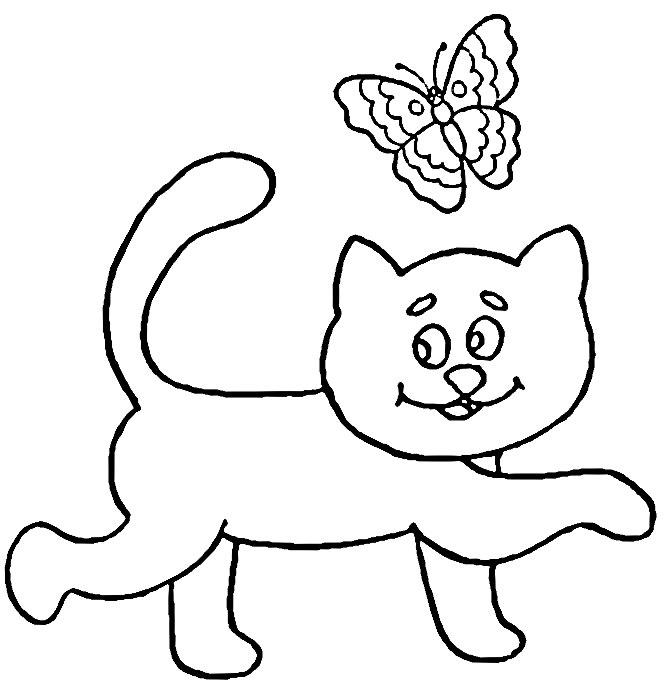 小猫简笔画素描