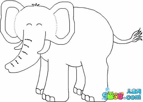 大象简笔画简笔画