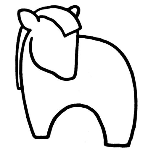 教你如何画马 温顺的马 十二生肖简笔画图片