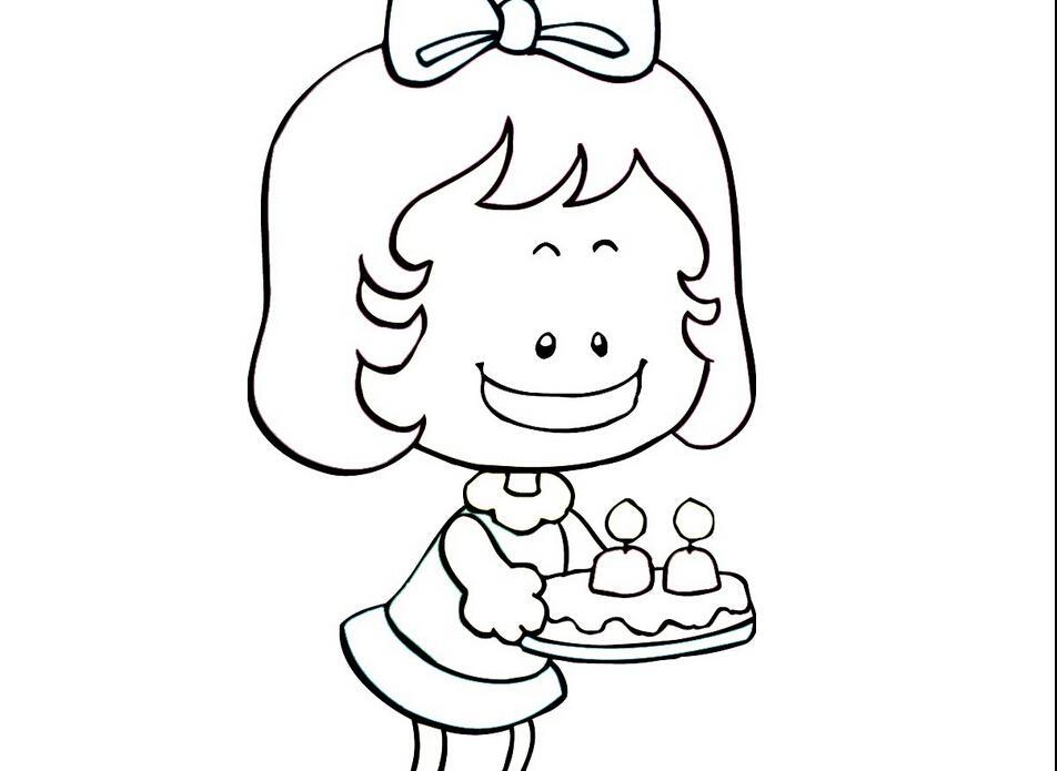 蛋糕简笔画简笔画