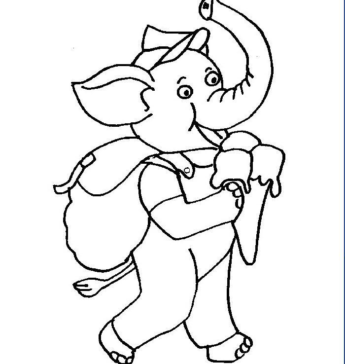 大象爱吃冰激凌_动物简笔画-e学堂