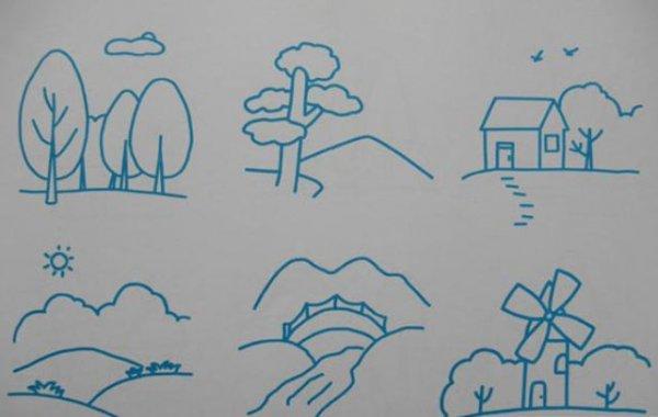 儿童风景简笔画简单