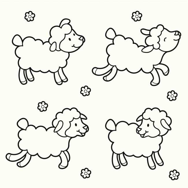 欢腾的羊羊_动物简笔画-e学堂