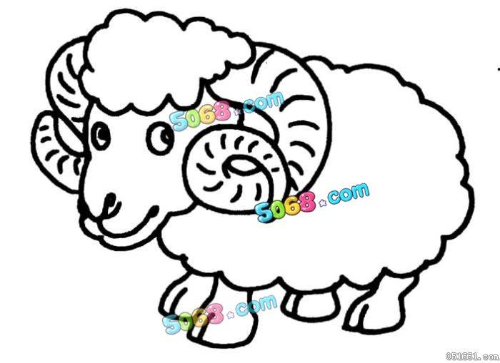 卡通可爱小羊简笔画
