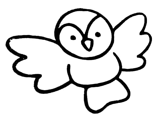 飞翔的小鸟_动物简笔画-e学堂